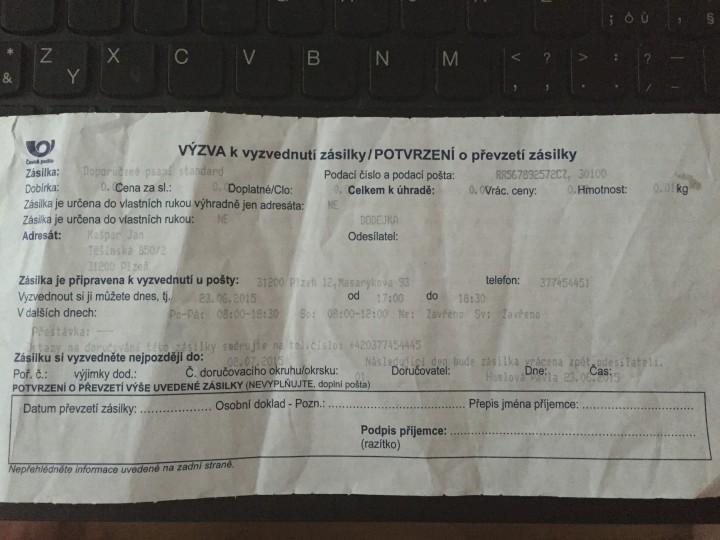 Doporučený dopis do jiných rukou aneb Česká pošta nejhorší distribuční firma v ČR